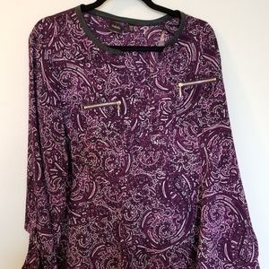 Purple pattern blouse